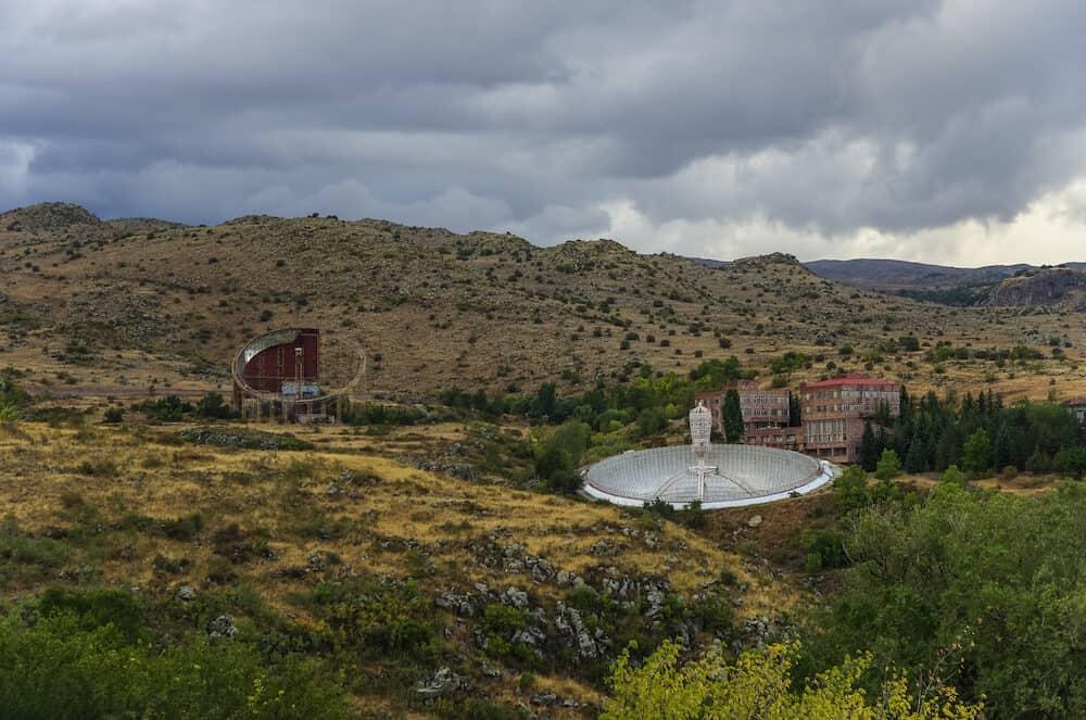 Radio telescope in Byurakan Astrophysical Observatory Armenia