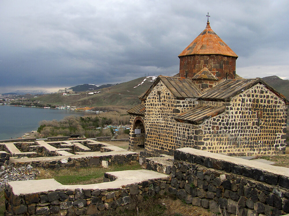 Sevan, Armenia - The ancient Sevanavank monastery, Sevan, Armenia