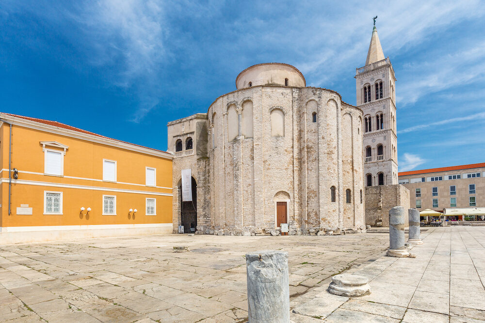 Church of Saint Donatus in historic center of Zadar town, Croatia, Europe.