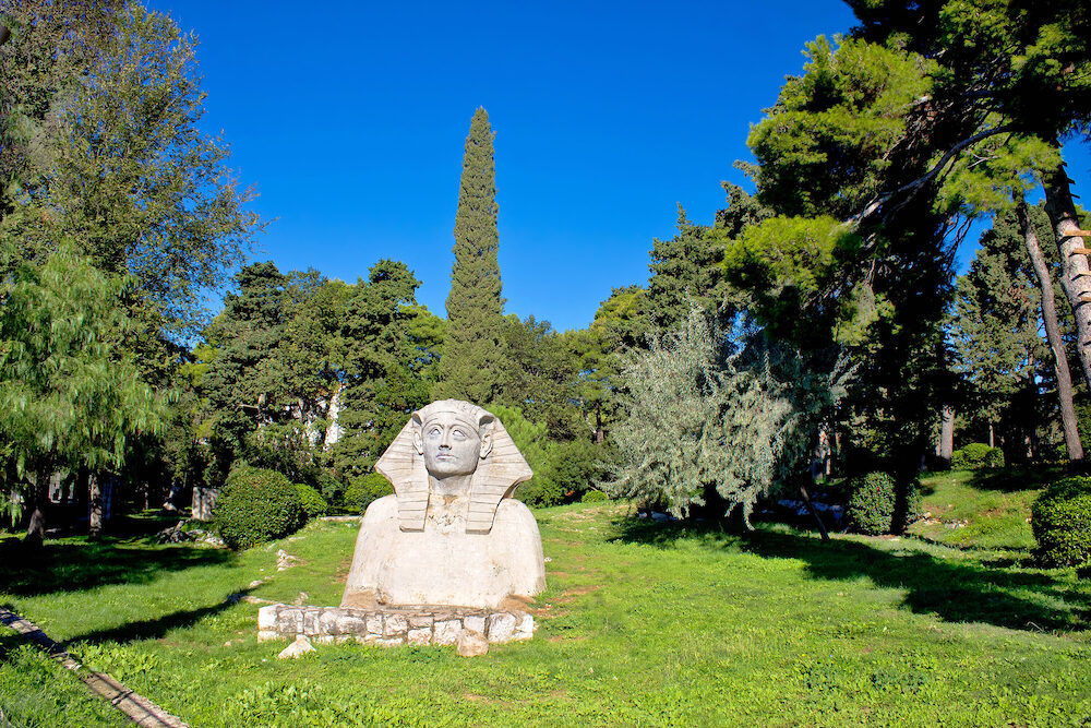 The Sphinx od Zadar in green nature Dalmatia Croatia