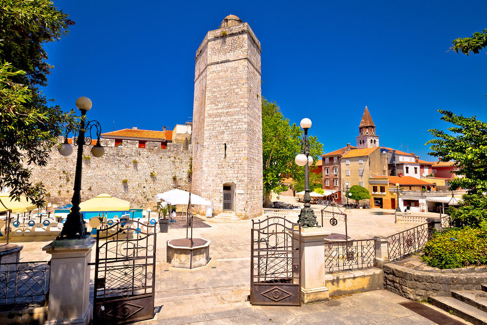 Zadar Five wells square and historic architecture view Dalmatia Croatia