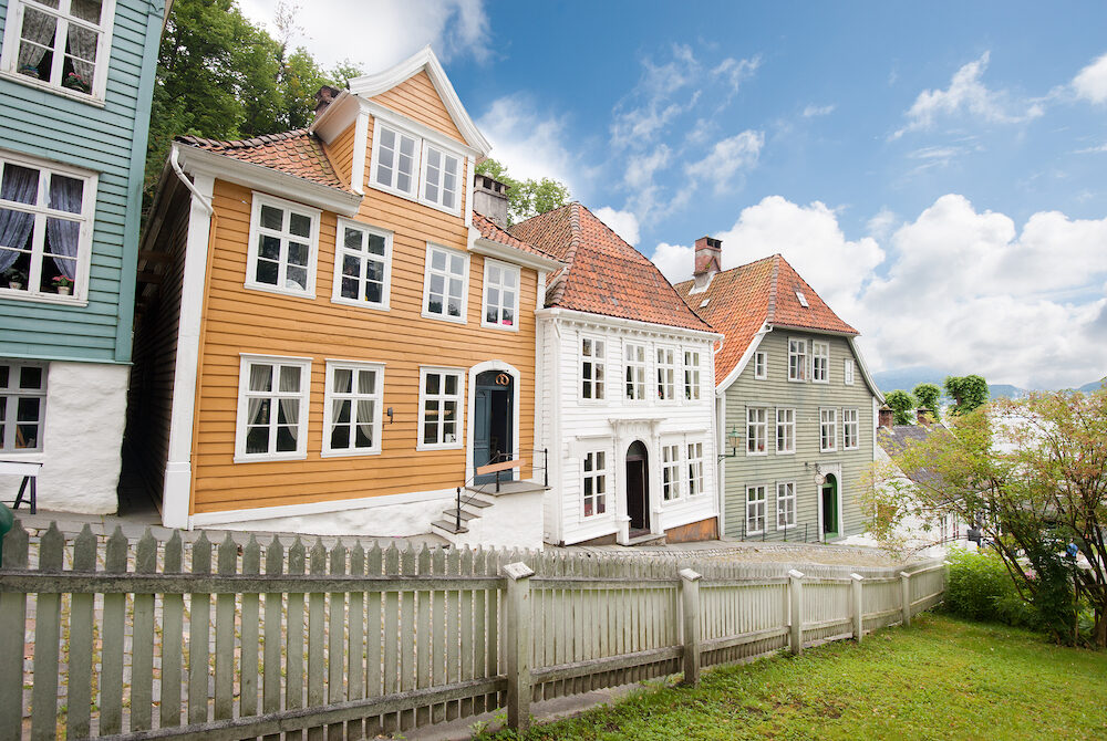 The old town of Bergen city in Norway