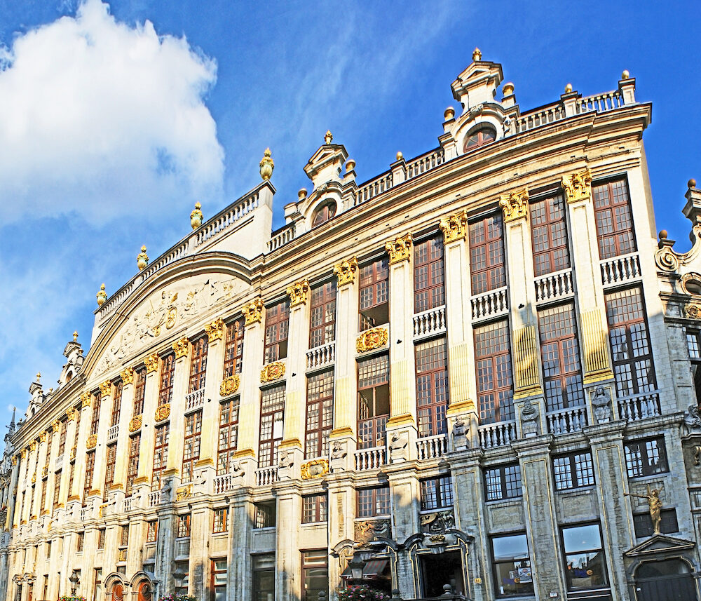 BRUSSELS BELGIUM - The magnificent building of Hotel Saint Michel located on the Grand Place next to the most notable landmarks of the city in Brussels.