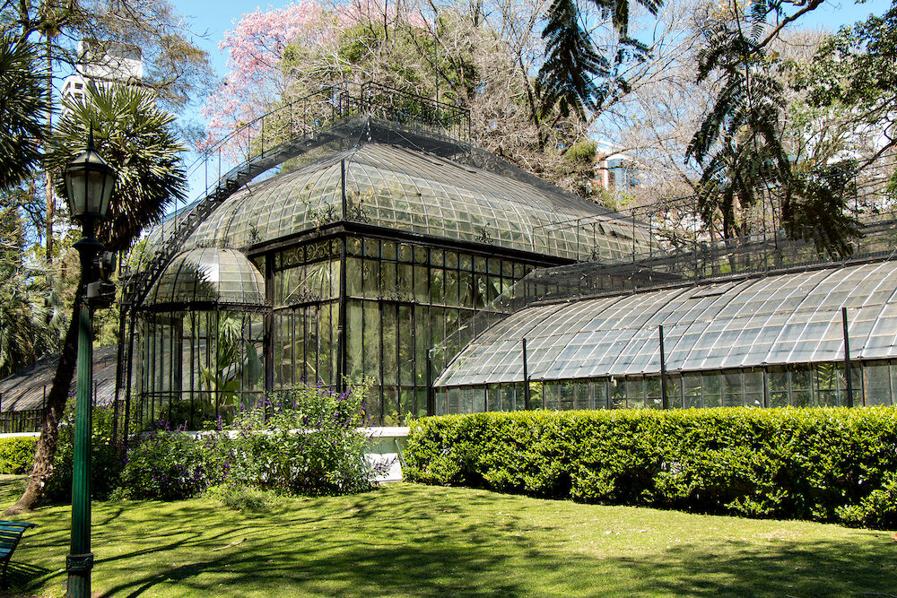 Botanical Garden with many sculptures and plants in Buenos Aires Argentina