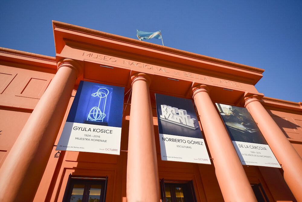 Buenos Aires, Argentina - : National Museum of Fine Arts MNBA is an Argentine art museum in Buenos Aires, located in the Recoleta section of the city.