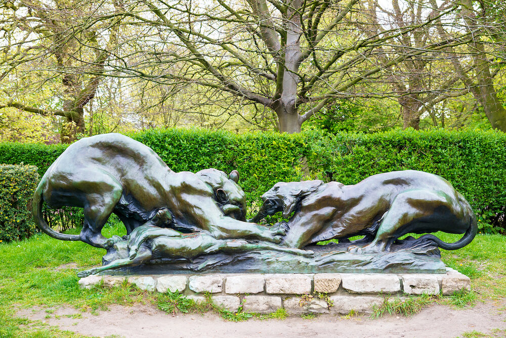 Ghent, Belgium - Sculpture in the citadelpark is a park in the Belgian city of Ghent.