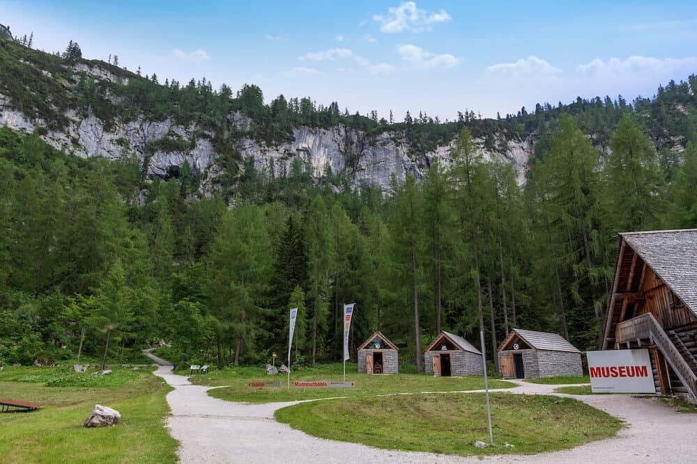 Obertraun Austria - Dachstein museum - Ice cave Mammut cave museum village.