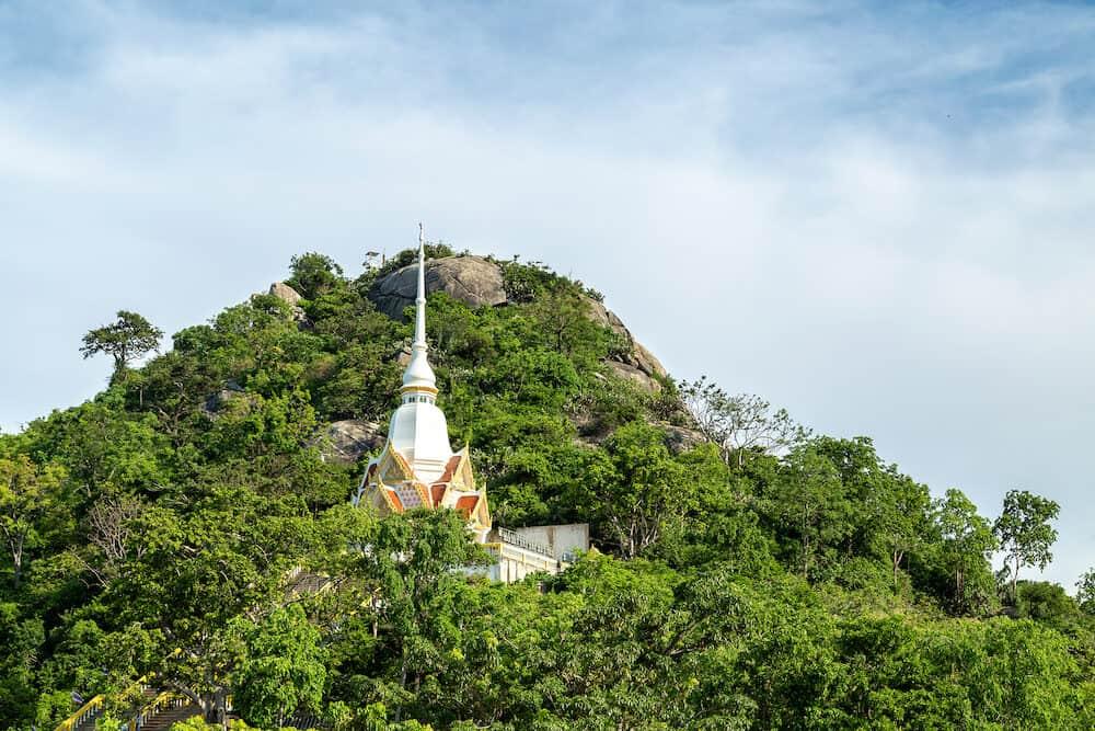Khao Takiab temple on Khao Takiab mountain (also known as Monkey mountain or Chopstick mountain), Hua Hin district, Prachuap Khiri Khan, Thailand
