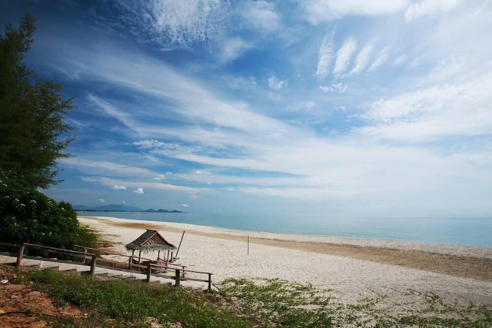 Tropical beach at Bang Saphan and Pranburi Thailand