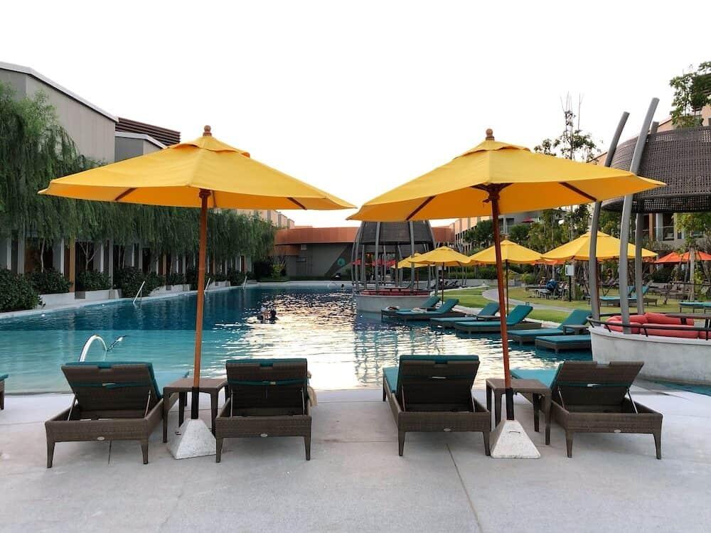 Hua Hin Thailand - View of swimming pool at Avani Hua Hin Resort in Thailand