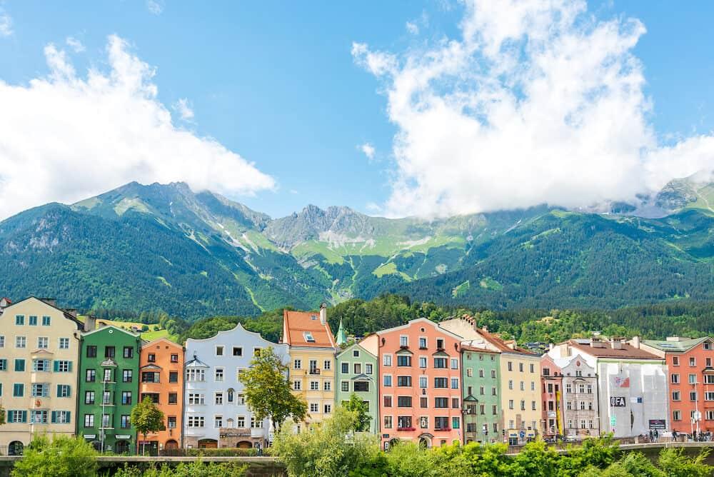 INNSBRUCK, AUSTRIA - Alpine landscape near Innsbruck, Austria