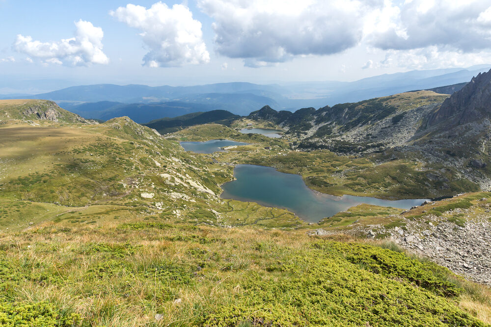 Bulgaria, Kyustendil region, Rila, Rila Mountains, Lake, Mountain Lakes, The Seven Rila Lakes, Seven Rila Lakes, Rila Lakes, Mountain, Recreation, Tourism, Water, Nature, Trail, Route, outdoor, bush, clear, green, travel, view, destination, sunny, scenery