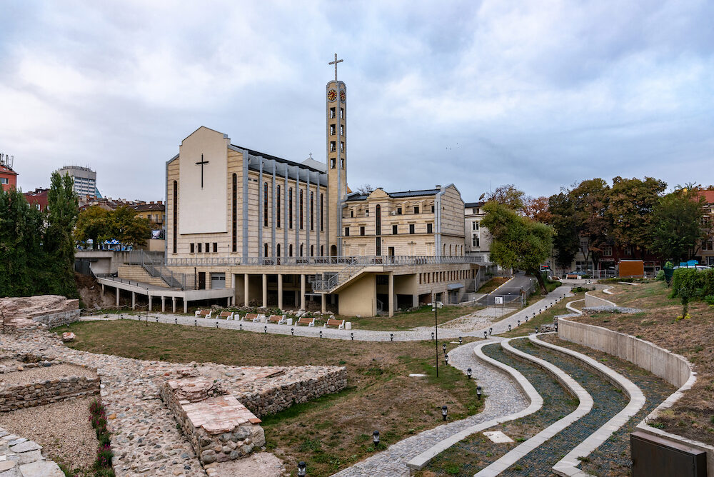 SOFIA BULGARIA Cathedral of St Joseph is a Roman Catholic cathedral in Sofia, the capital of Bulgaria. . It is the co-cathedral of the Diocese of Sofia and Plovdiv, together with the Cathedral of St Louis in Plovdiv.