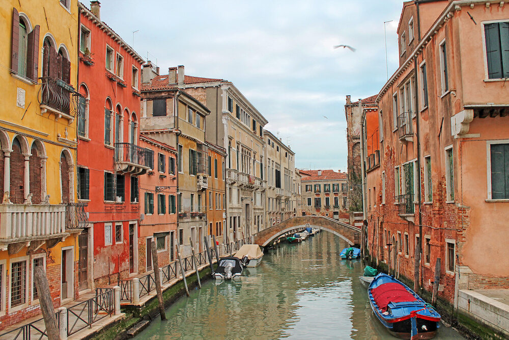 View of Cannaregio - beautiful district of Venice. Italy.