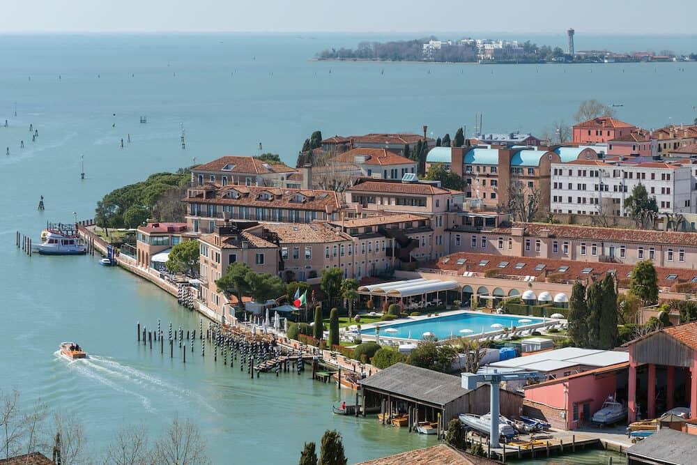Venice, Italy - View of Giudecca Island in Venice, Italy.