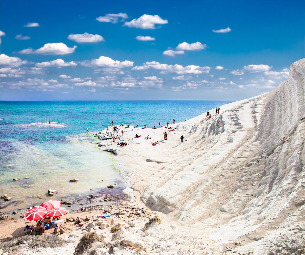 White beach. Scala dei Turchi on Sicily, Italy.