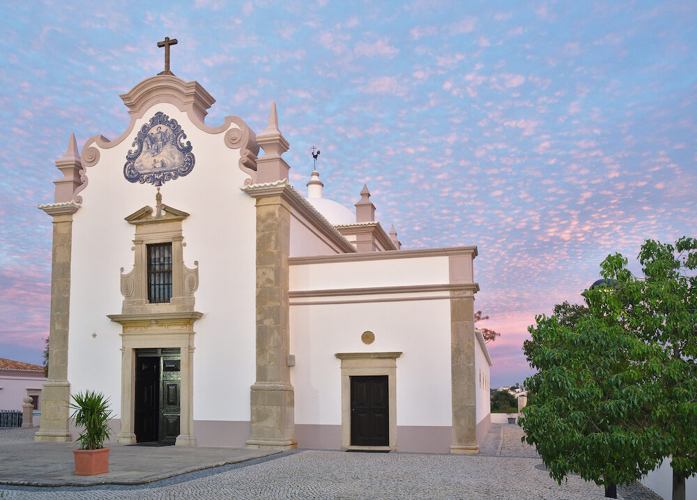17th century church, dedicated to Saint Lawrence of Rome. Temple situated in Sao Lourenco, Almancil, Algarve, Portugal.