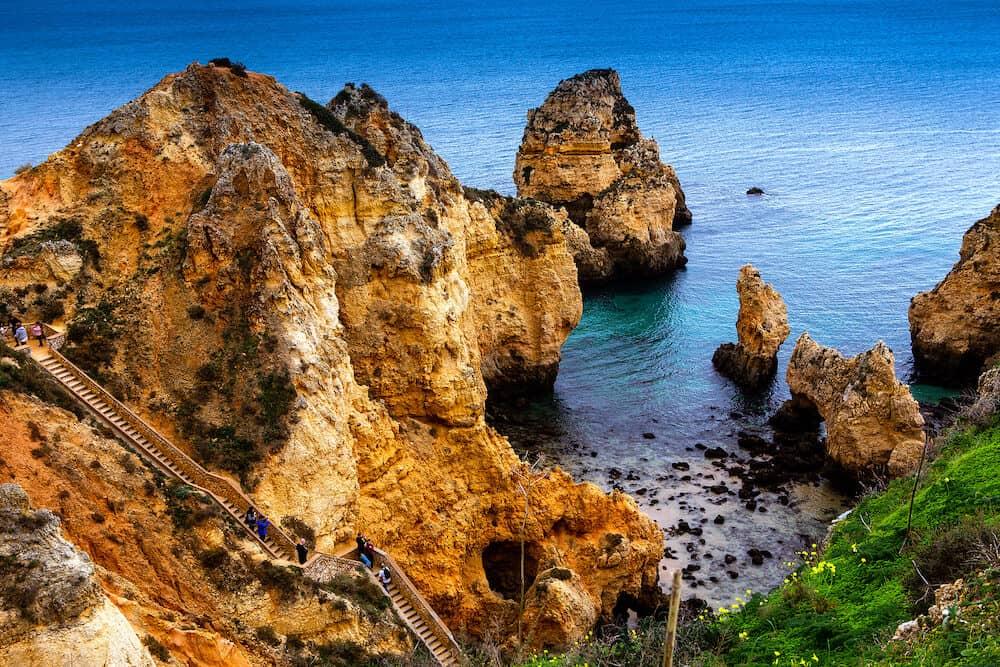 LAGOS, PORTUGAL, : Cliffs of Ponta da Piedade, , in Lagos, algarve, portugal