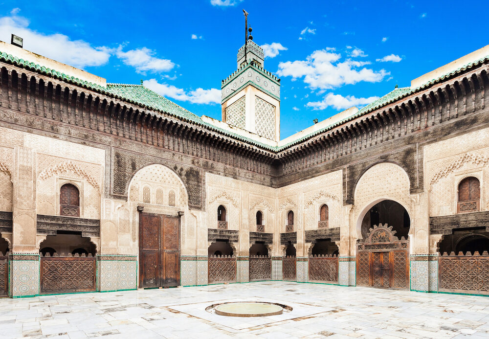 The Madrasa Bou Inania is a madrasa in Fes Morocco. Madrasa Bou Inania is acknowledged as an excellent example of Marinid architecture.
