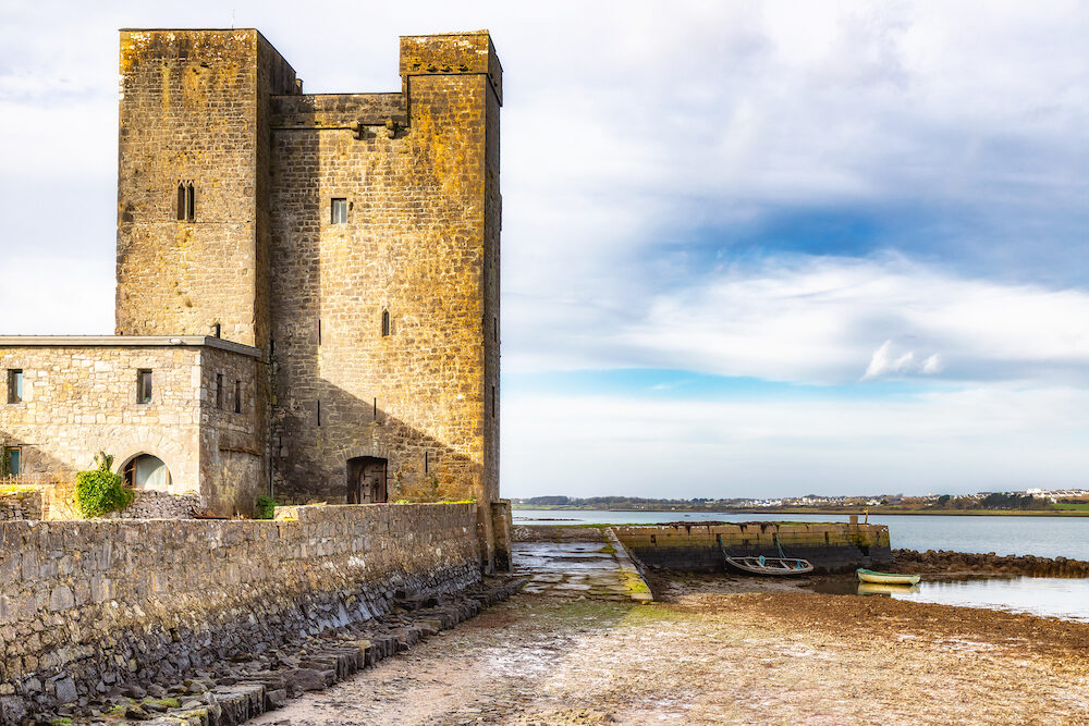 Oranmore Castle in Galway bay, Galway, Ireland