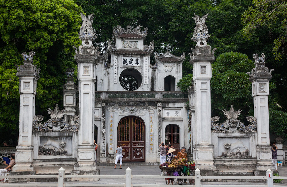 HANOI VIETNAM - : Quan Thanh Temple. Quan Thanh Temple is a Taoist temple dated to the 11th century.