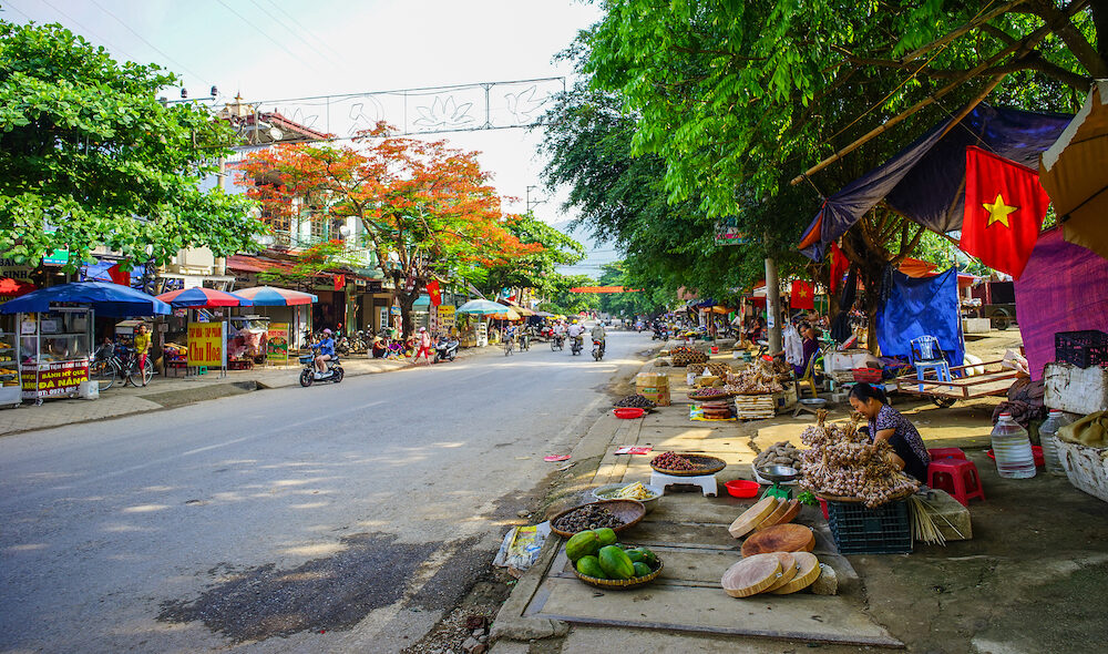 Hanoi, Vietnam - Street market of Old Quarter in Hanoi, Vietnam. Old Quarter has a history that spans 2000 years and represents the eternal soul of the city.