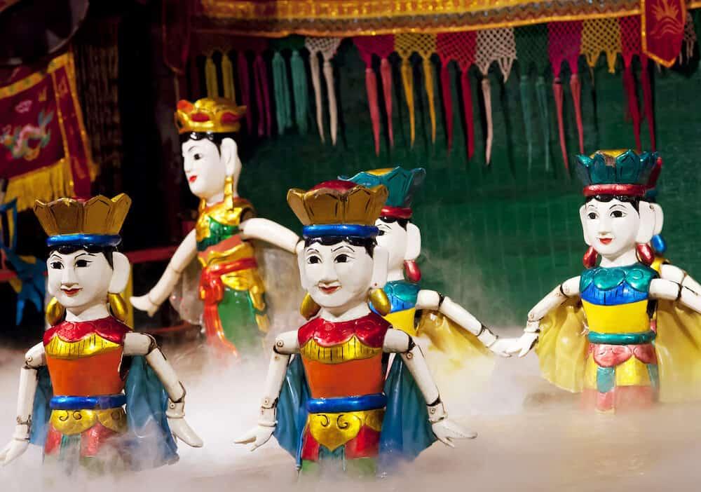 SAIGON, VIETNAM - - Traditional vietnamese water puppet theater