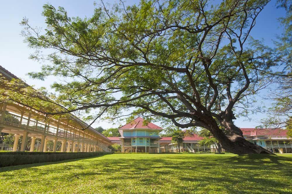 Maruekhathaiyawan Palace most wood palace house in cha-am Phetchaburi Province,Thailand