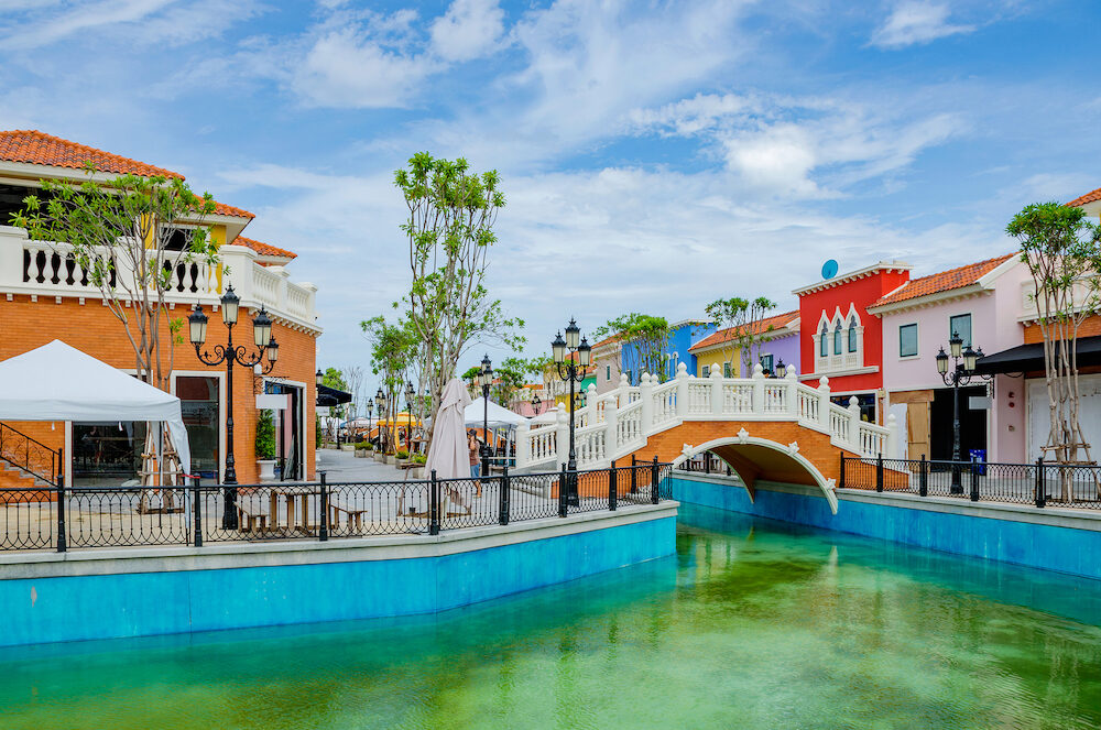HUA HIN, THAILAND - : This is Venezia village a shopping village and tourist attraction which was made to look like Venice in Hua Hin