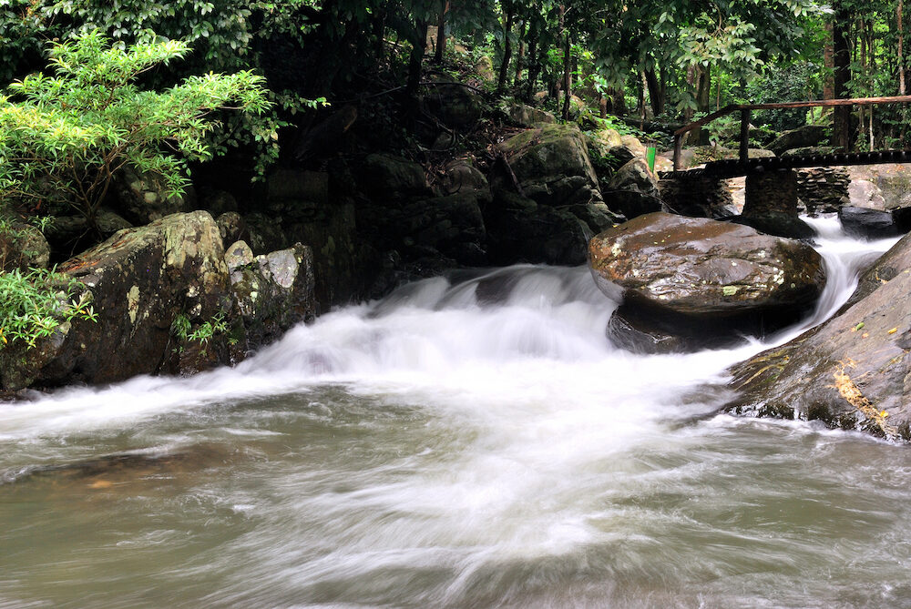 Waterfall in deep forest at Pala-U Waterfall National Park. Thailand