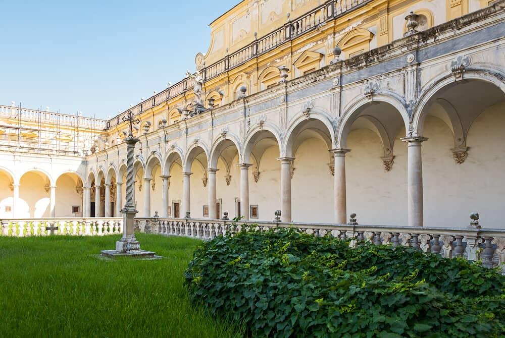 Naples Italy the Certosa Di San Martino cloister