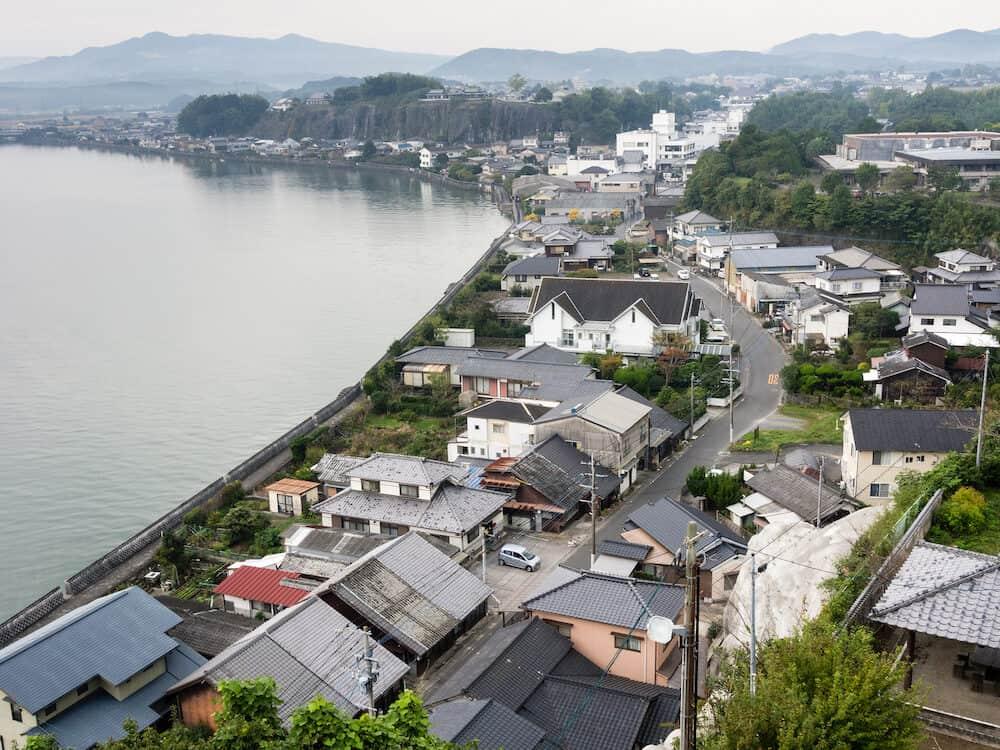 Kitsuki, Japan - Kitsuki city view from the top of Kitsuki castle in Oita prefecture