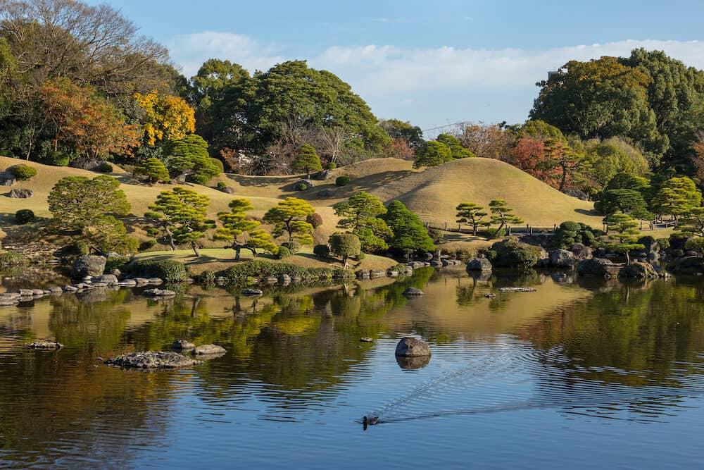 Suizenji Garden, Suizenji J?juen, is a spacious Japanese style landscape garden in Kumamoto