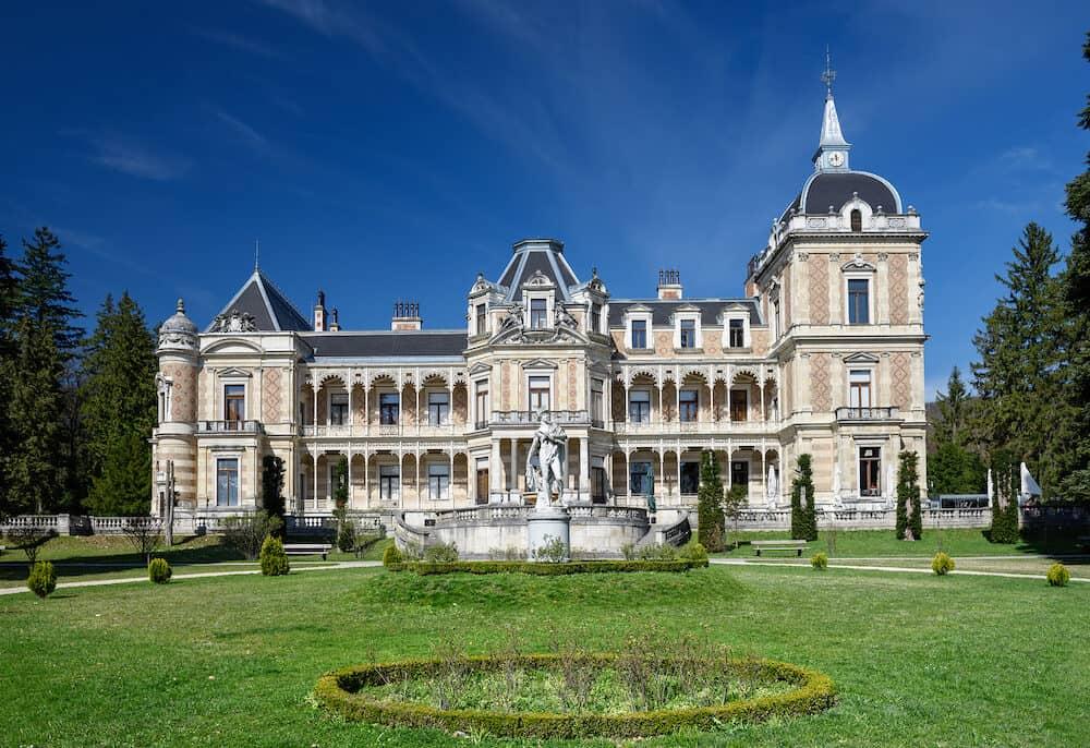 VIENNA/ AUSTRIA - Palace Hermesvilla (built in 1882 - 1886) in the Lainzer Tiergarten, in Vienna, Austria. Today it is a museum housing memorabilia of the empress Elisabeth.