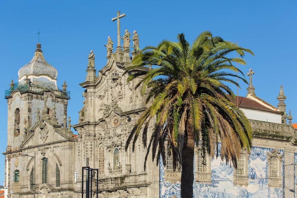 The Church Igreja do Carmo dos Carmelitas in Ribeira - the old town of Porto, Porugal