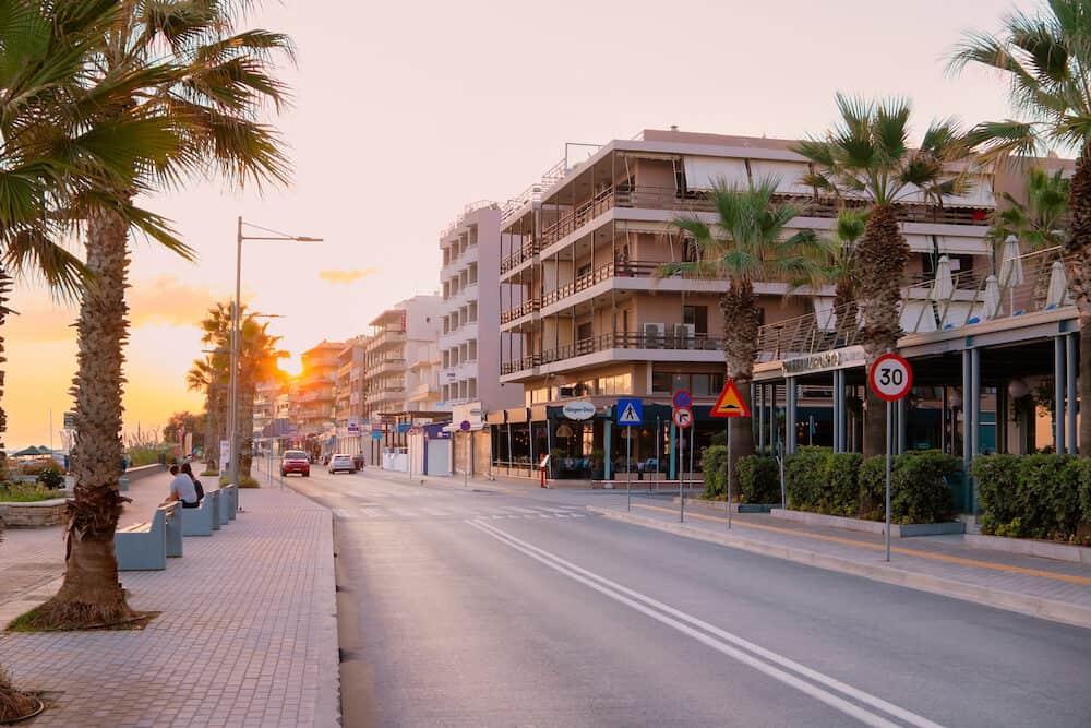 Rethymno, island of Crete, Greece. Beautifull sunrise on the Rethymno town.