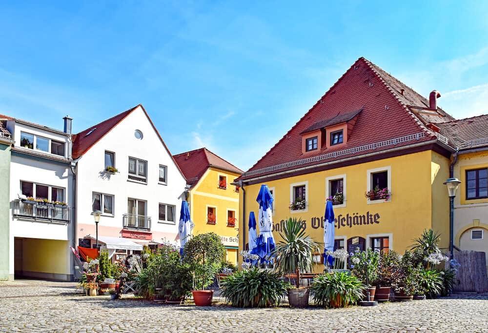 Radebeul, Germany - Houses and restaurants in the district Kötzschenbroda