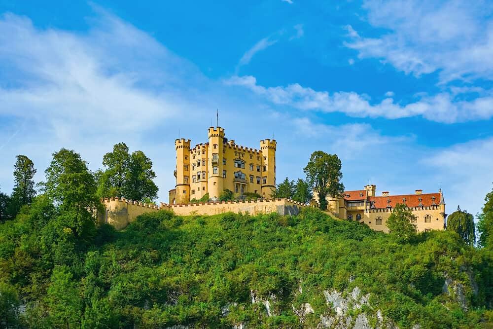 Hohenschwangau Castle (Schloss Hohenschwangau or Upper Swan County Palace) in Germany