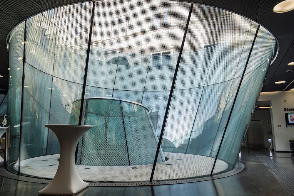 Graz, Austria - Interior view of skylight in Joanneumsviertel Museum of Graz