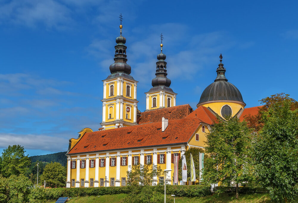 The Baroque Mariatrost Basilica on top of the Purberg hill in Mariatrost a district of Graz is one of the most famous pilgrimage sites of Styria in Austria