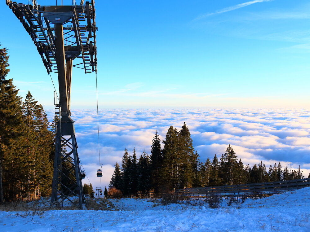 The Schoeckl mountain near Graz Austria outdoor shot