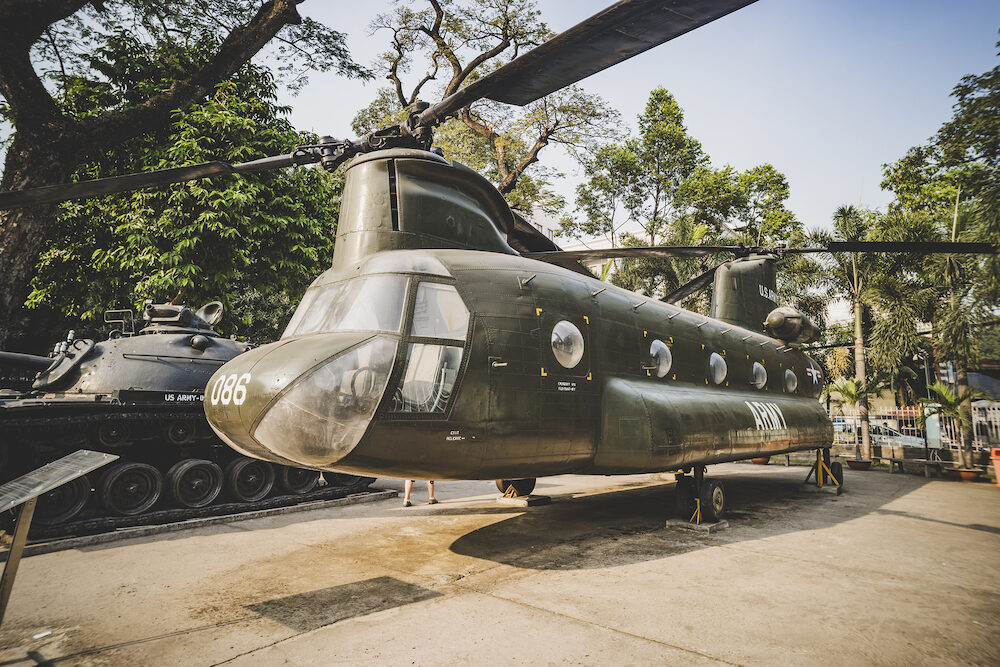 Ho Chi Minh city, Vietnam.: American helicopter Chinook at the War Remnants Museum, a war museum in District 3 in Ho Chi Minh City