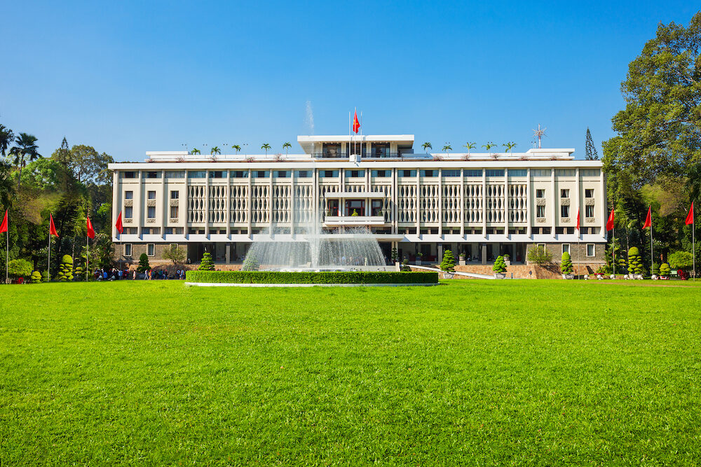Independence Palace or Reunification Palace is a main public landmark in Ho Chi Minh City in Vietnam