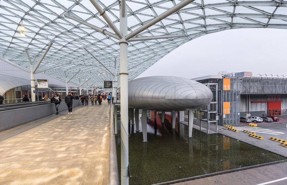 Milan, Italy - : Modern expo center of Fiera Milano