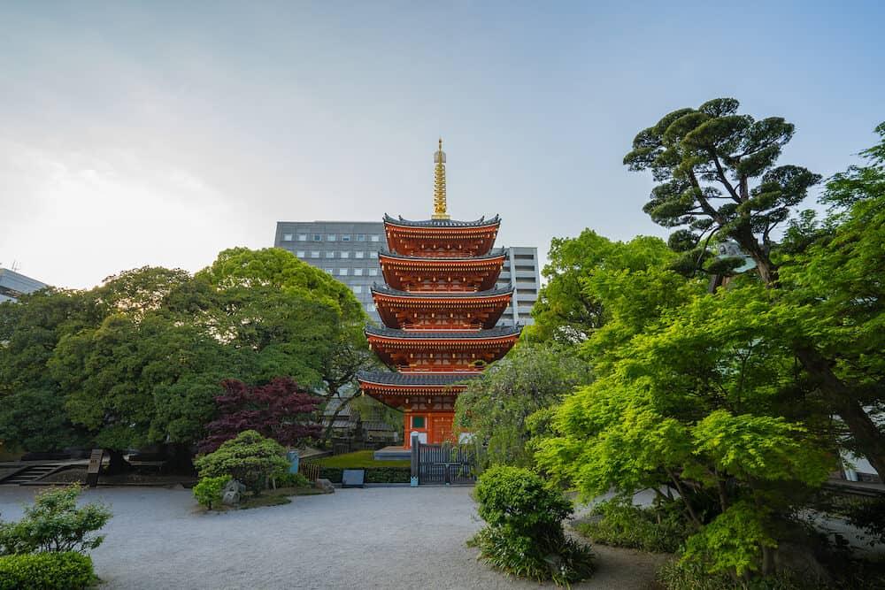 Fukuoka, Japan - Tocho-ji temple in Hakata, Fukuoka, Japan.