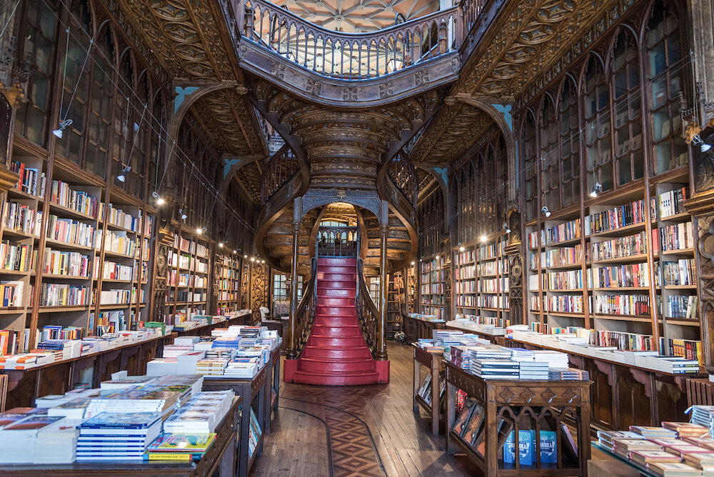 PORTO, PORTUGAL - Livraria Lello, one of the oldest bookstores in Portugal