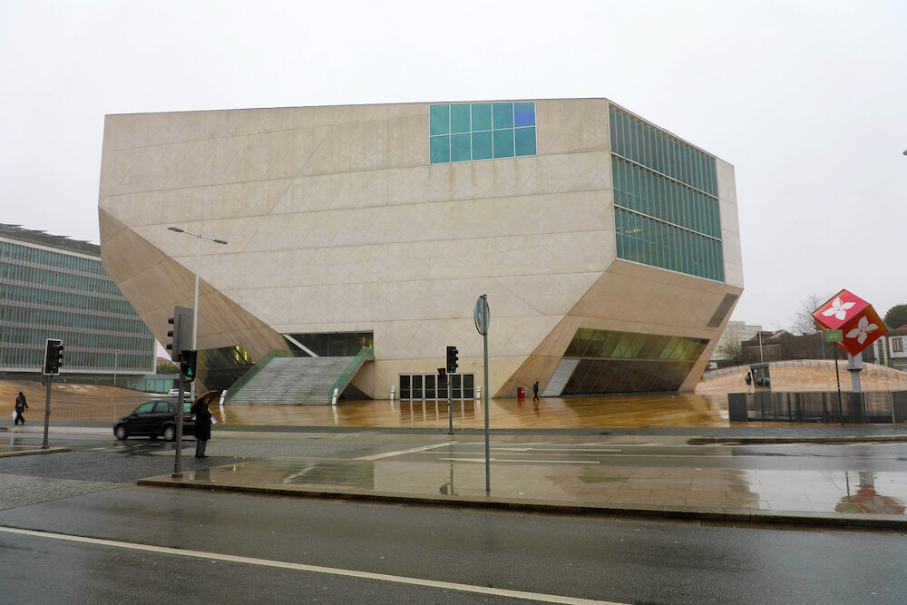 PORTO, PORTUGAL - Music House (Casa da Musica) is a modern concert hall in Porto, Portugal
