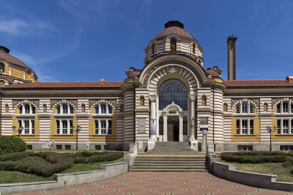 SOFIA, BULGARIA - Central Mineral Bath - History Museum of Sofia, Bulgaria