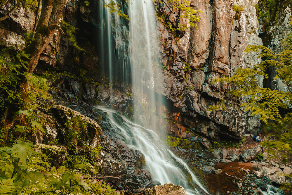 boyana waterfall in vitosha mountain sofia bulgaria