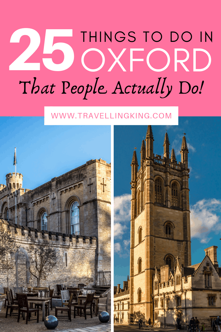 25 Things to do in Oxford - That People Actually Do !